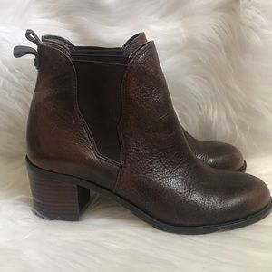 Sam Edelman Shoes - Sam Edelman Stacked Ankle Boots Ombré Toe Leather
